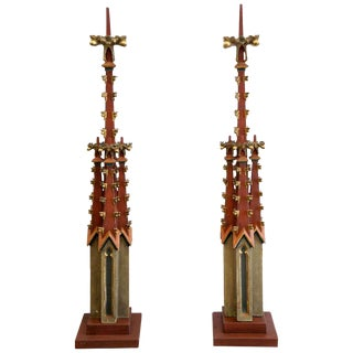 19th Century Monumental Gothic Spires For Sale