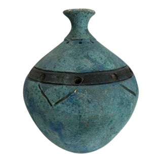 Turquoise Weed Pot