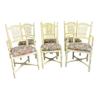 Sigla Italian Country French Style Dining Chairs- Set of 6 For Sale