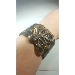 Octopus Leather Snap Cuff Preview