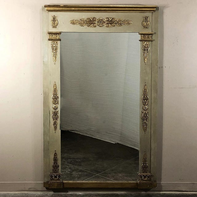 19th Century French Empire Painted Mirror For Sale - Image 13 of 13