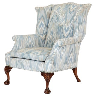 George II Style Wingback Chair For Sale