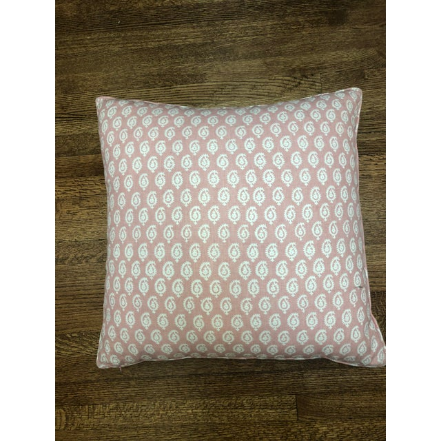 Contemporary Peter Dunham Pink Rajmata Print Down Designer Pillow For Sale - Image 3 of 9