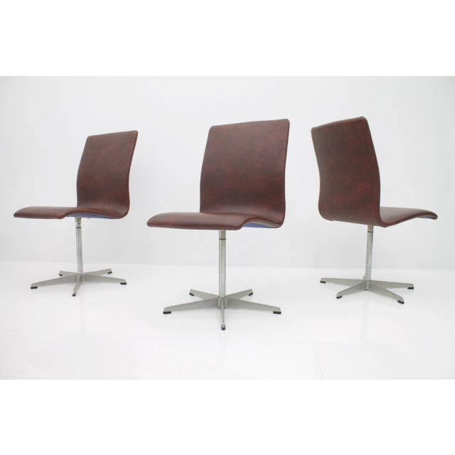 6x Arne Jacobsen Oxford Chairs by Fritz Hansen Denmark For Sale - Image 9 of 12