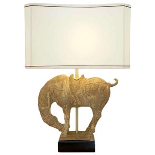 Clay Horse Table Lamp