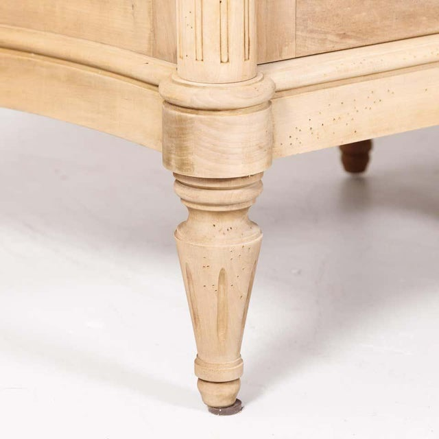 Antique French Louis XVI Style Bleached Walnut Enfilade Buffet For Sale - Image 10 of 13