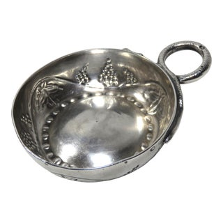 Antique French Sterling Silver Wine Taster Cup, Tastevin For Sale