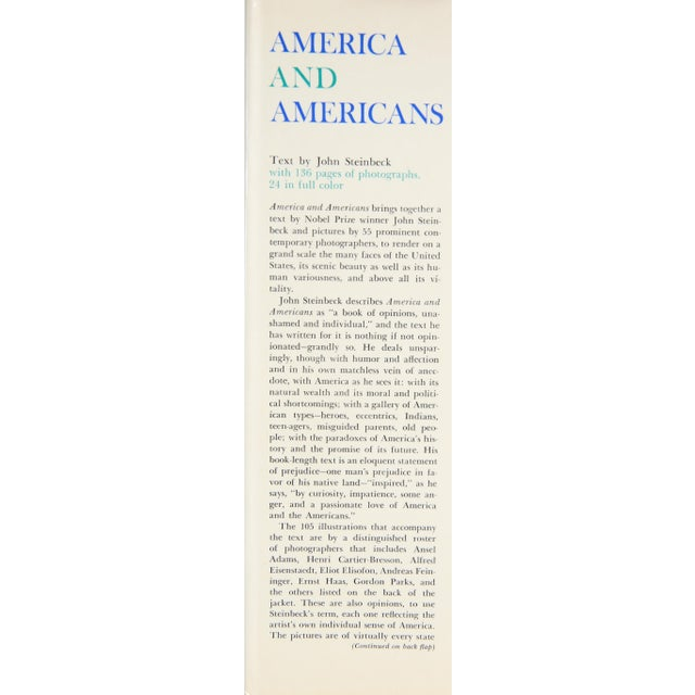 Refresh your coffee table with America and Americans by John Steinbeck. New York: Viking Press, 1966. 207 pages. Hardcover...