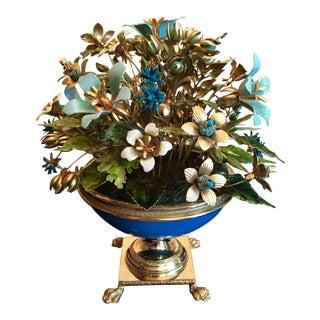 Mid-Century Jane Hutcheson Enamel Flower Bouquet For Sale