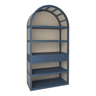 Leila Etagere Bookcase- Newburyport Blue For Sale