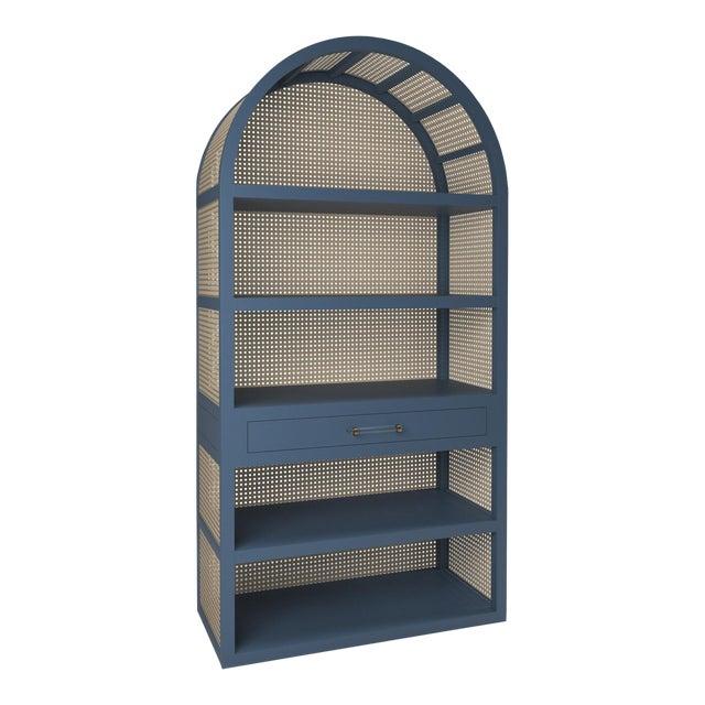 Leila Etagere Bookcase- Newburyport Blue For Sale