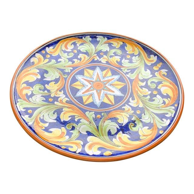 Italian Ceramic Decorative Plate Wall Hanging | Chairish