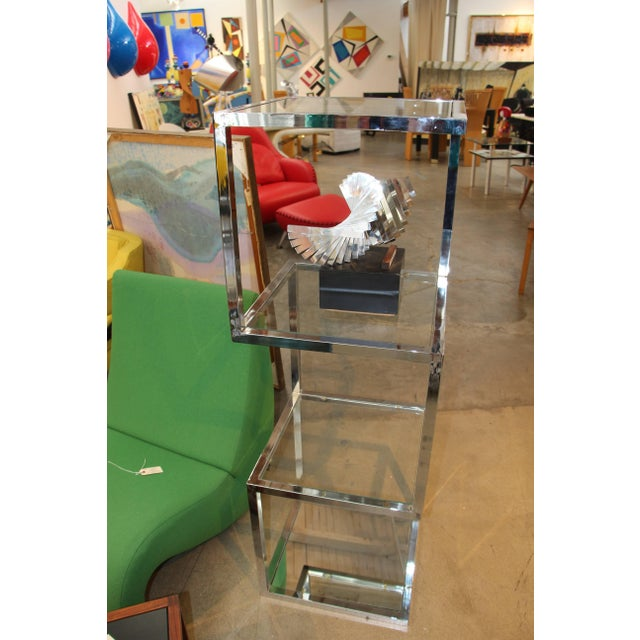 Milo Baughman Chrome Etagere With Asymmetrical Form For Sale In Palm Springs - Image 6 of 6