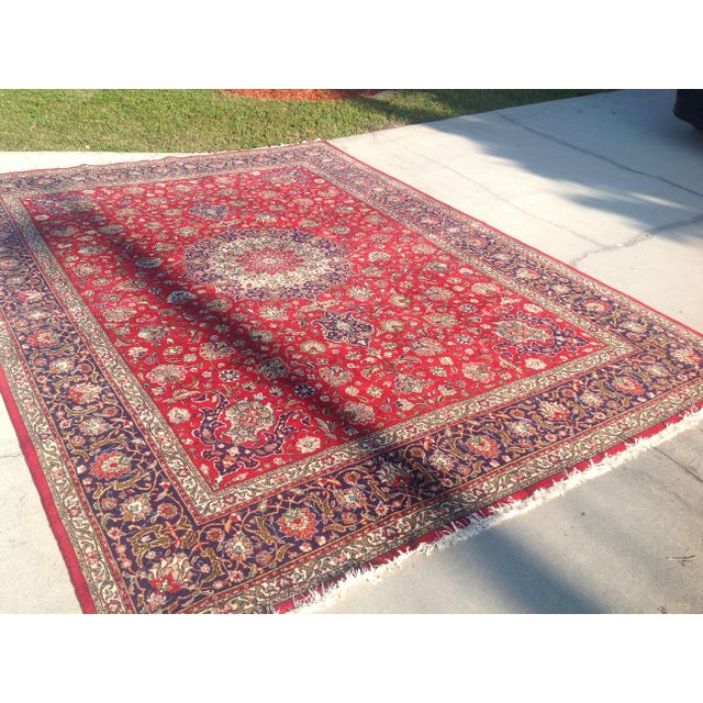 Colorful Kashan Hand-Tied Rug - 13' X 10' - Image 6 of 8