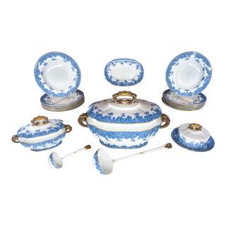 1888 Antique Royal Worcester Vitreous Porcelain Set - 21 Piece Set For Sale