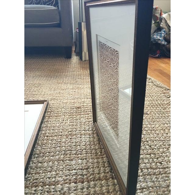 Brown Framed Book Plate Pattern Prints - Set of 6 For Sale - Image 8 of 10