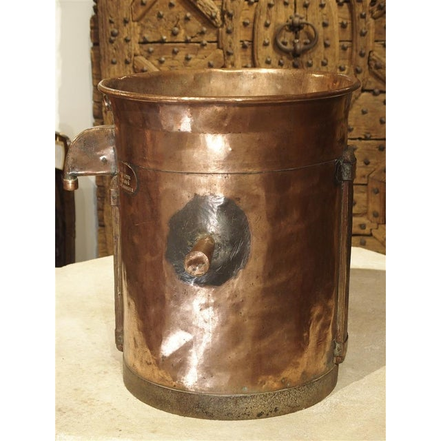 French Country Antique Copper 50 Liter Wine Vessel from Carcassonne France, Circa 1850 For Sale - Image 3 of 9