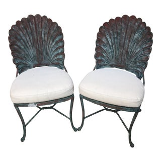 1960s Vintage Aluminum Shell Chairs- a Pair For Sale