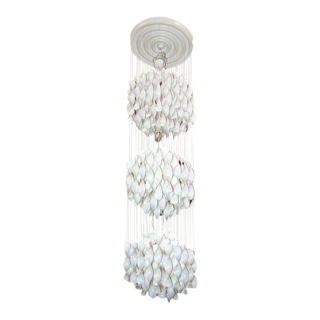 Verner Panton Spiral Chandelier For Sale