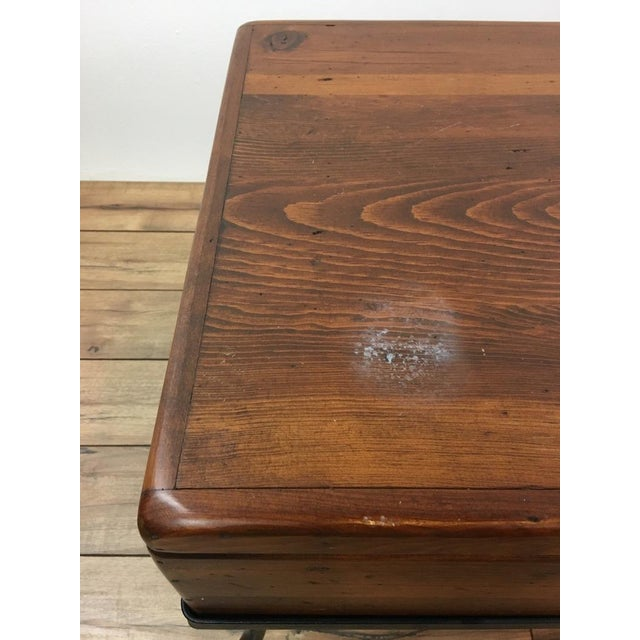 Contemporary Wood Trunk Top Coffee Table - Image 4 of 6
