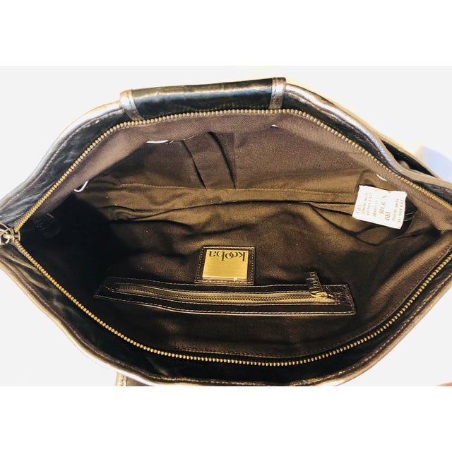 1980s Style -- New Kooba Oversized Black Leather Clutch For Sale In New York - Image 6 of 8
