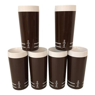 Vintage Neiman Marcus Insulated Plastic Highball Cups - Set of 6 For Sale