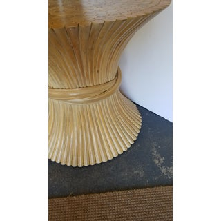 1970s Hollywood Regency McGuire Natural Rattan Bamboo Sheaf of Wheat Table Preview