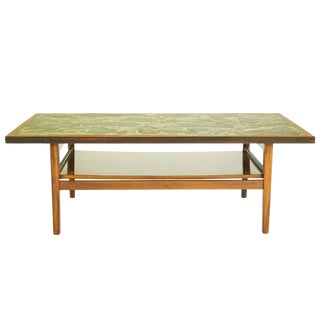 Stone-Top Cocktail Table For Sale