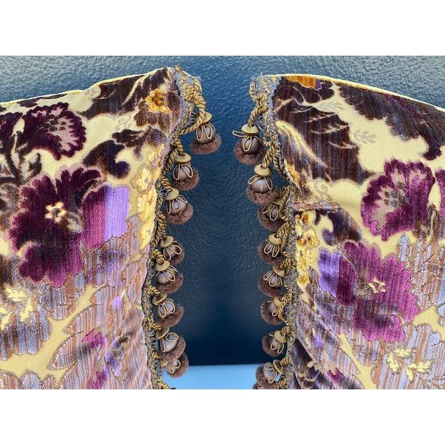 Luigi-Bevilacqua Silk Velvet Pillows - A Pair For Sale - Image 4 of 9
