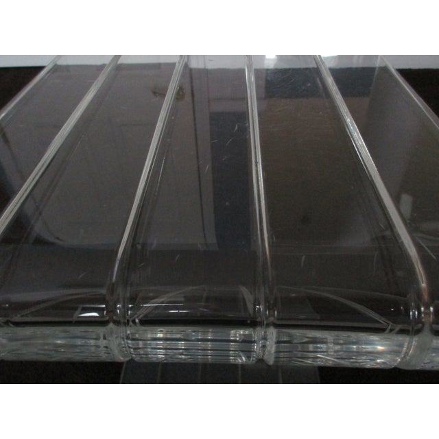Acrylic 1970s Hollywood Reegncy Lucite Z Shaped Side Table/Plant Stand For Sale - Image 7 of 13