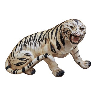 Oversize Handpainted Tiger Statue