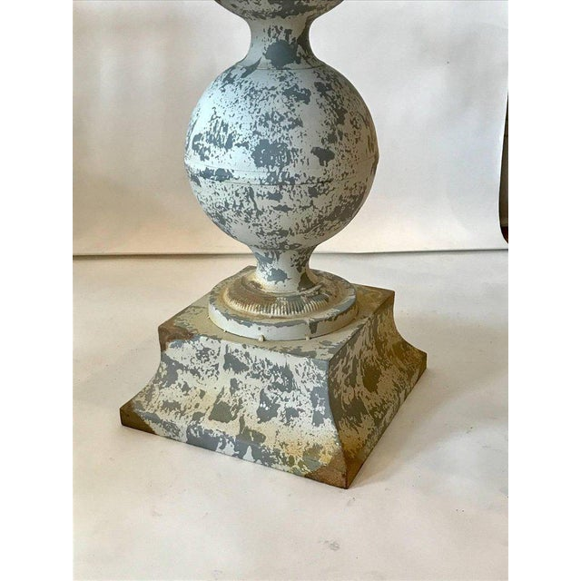 Early 20th Century Zinc Garden Table For Sale - Image 5 of 7