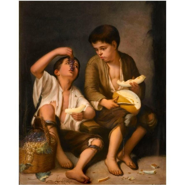 Mediterranean KPM Porcelain Painting After Murillo For Sale - Image 3 of 3