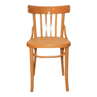 Cane Seat Bentwood Side Chair in Light Brown for Dining or Side Chair For Sale
