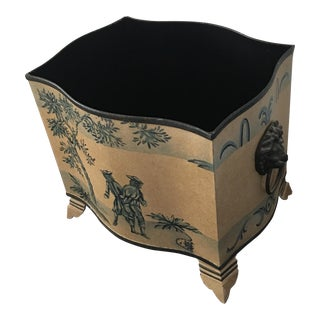 Vintage French Tole Painting Container