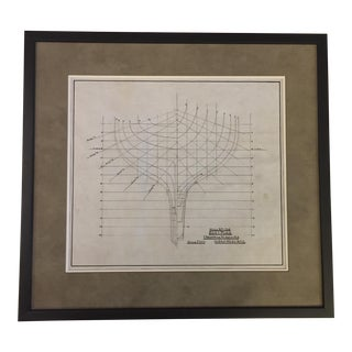 Original Vellum Ship Cross-Section Drawing Plan For Sale