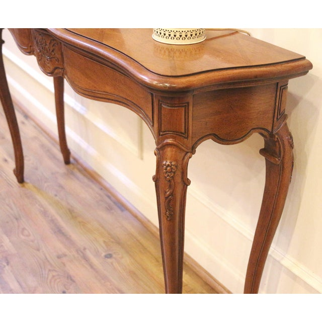 Wood 1970s Vintage Thomasville French Country Style Console Table For Sale - Image 7 of 13