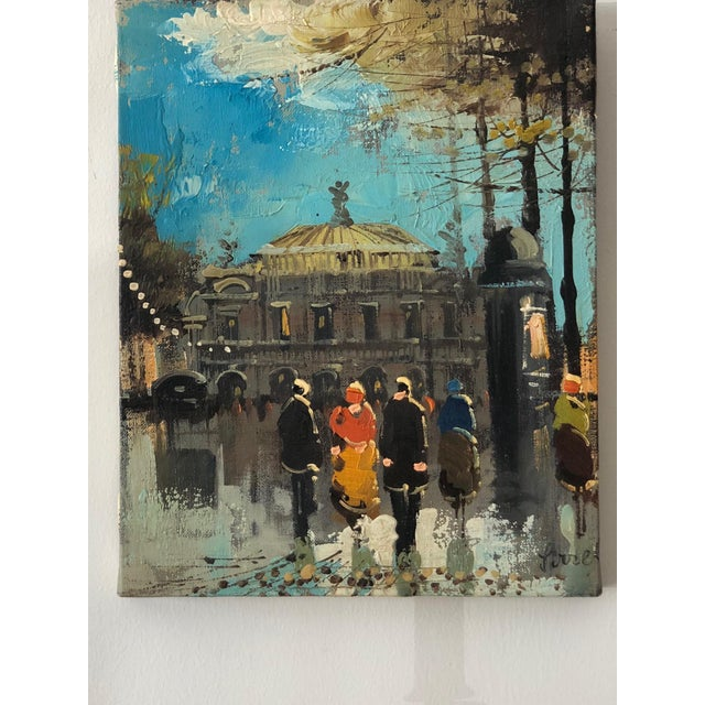 """""""Paris Opera House"""" Oil Painting by French Artist Soiret For Sale - Image 9 of 9"""