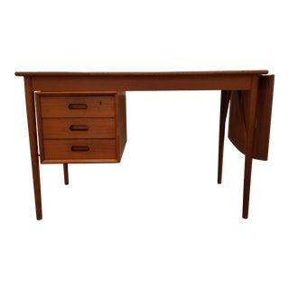 Erik Buch Teak Danish Modern Desk For Sale
