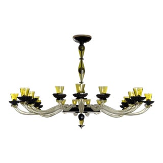 Large Cenedese Murano Glass Chandelier, circa 1980