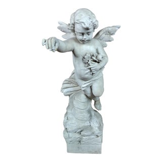 19th Century Antique Carved Stone Angel - C1880s