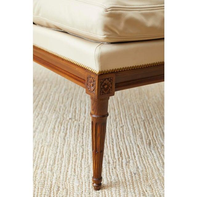 Maison Jansen Louis XVI Style Long Bergere Armchairs - a Pair For Sale - Image 11 of 13