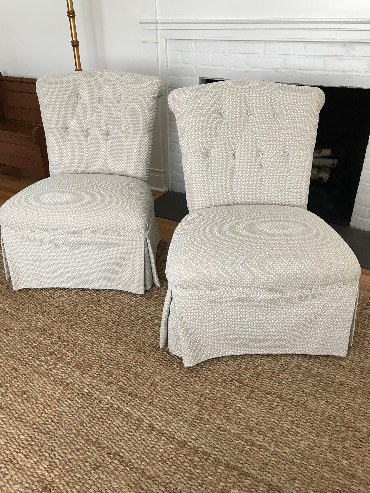 Armless Boudoir Chairs   A Pair   Image 2 Of 10