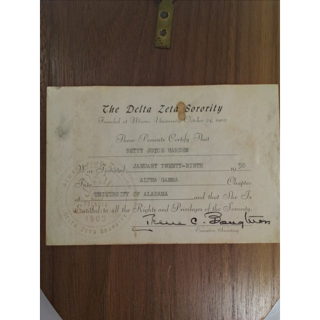 1950s Delta Zeta Sorority Wall Plaque - Image 8 of 9