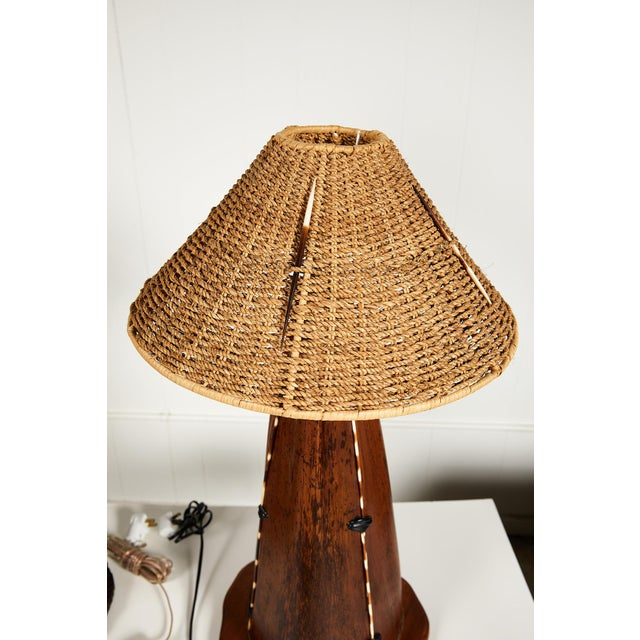 Interesting Pair of Midcentury Palm Frond Lamps For Sale - Image 4 of 13