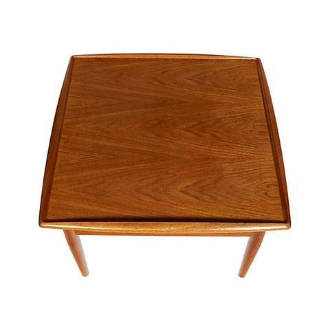 Danish Modern 1960s Danish Teak Side Table For Sale - Image 3 of 3