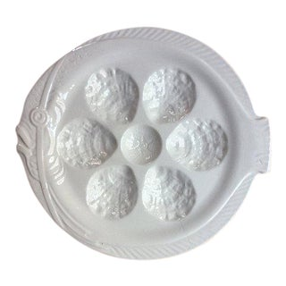 Vintage French Porcelain OysterPlate For Sale