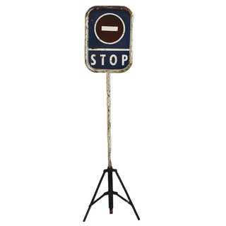 Vintage Indonesian Stop Sign For Sale