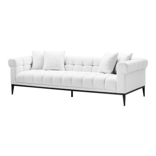 White Biscuit-Tufted Sofa | Eichholtz Aurelio For Sale