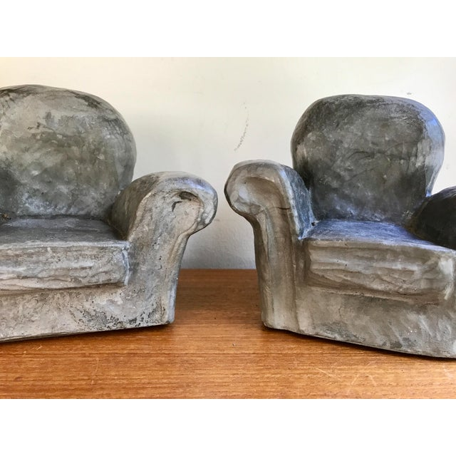 Gray Club Chair Bookends For Sale - Image 5 of 8